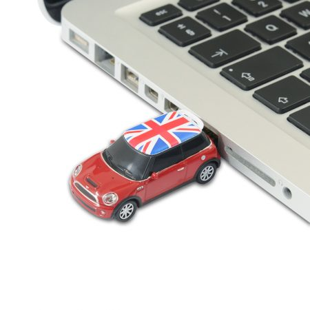 BMW Mini Cooper Car 8Gb USB Memory Stick – Red with Union Jack Roof